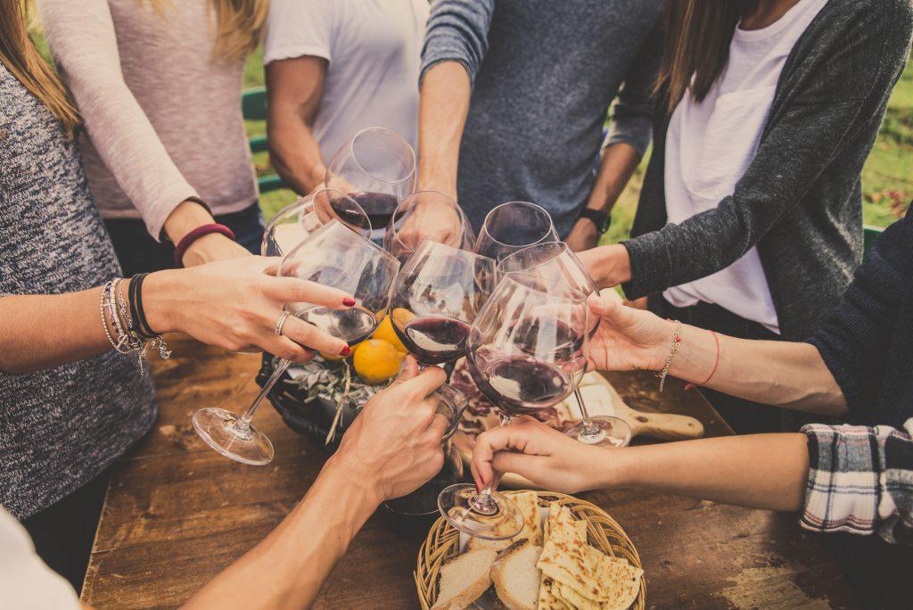 Salciccia pasta och Vinonista vin